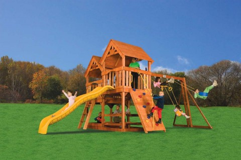 Детские комплексы уличные / Rainbow Play Systems / Double Decker
