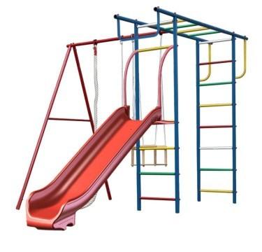Вертикаль П с горкой 1 Дачный детский спортивный комплекс