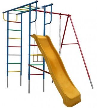 Вертикаль П с горкой 2 Дачный детский спортивный комплекс