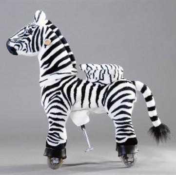 Детские механические лошадки ( Ponycycle )Зебра